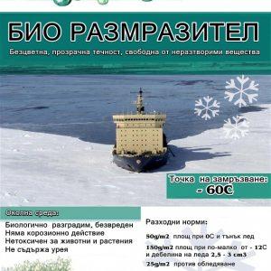 Препарат за разтопяване на сняг и лед